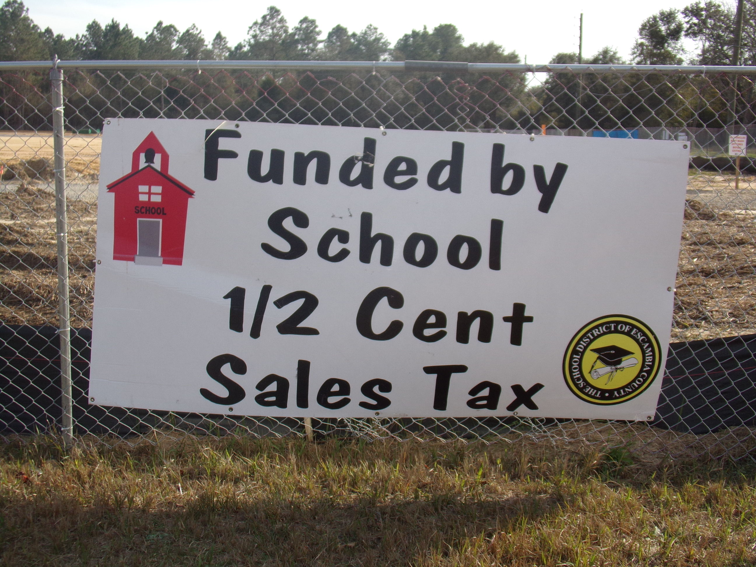 1/2 Cent Sales Tax in Escambia County, Florida building new schools