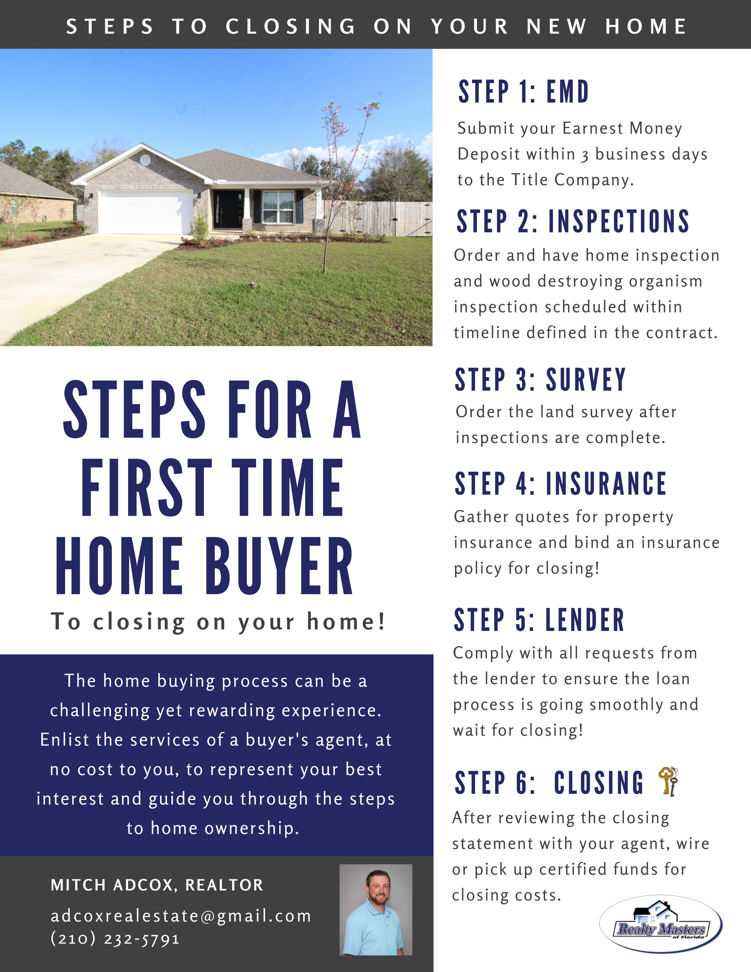 steps to closing for first time home buyers